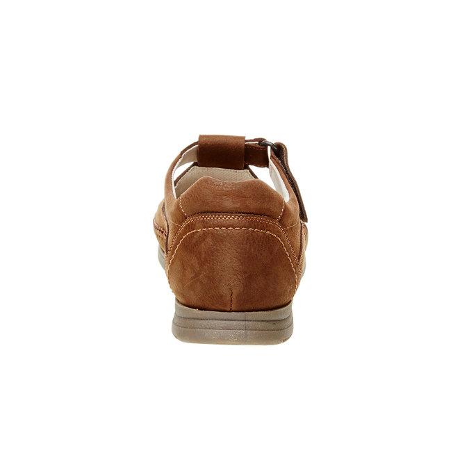 Pánské kožené sandály comfit, hnědá, 866-4184 - 17
