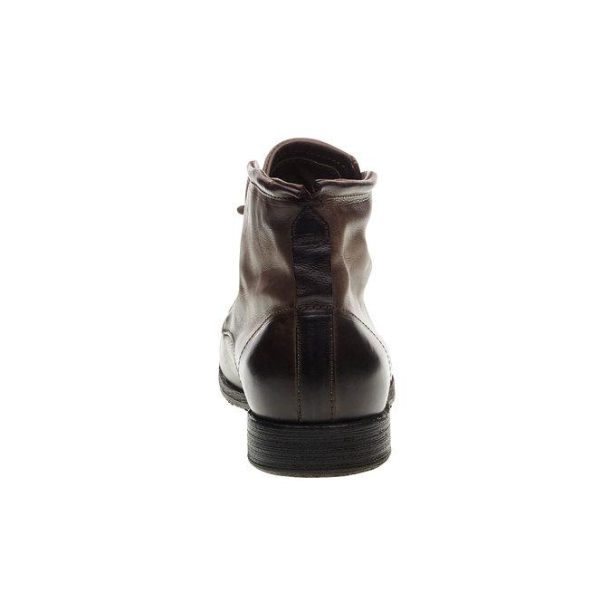 Kožená kotníčková obuv a-s-98, hnědá, 896-4007 - 17