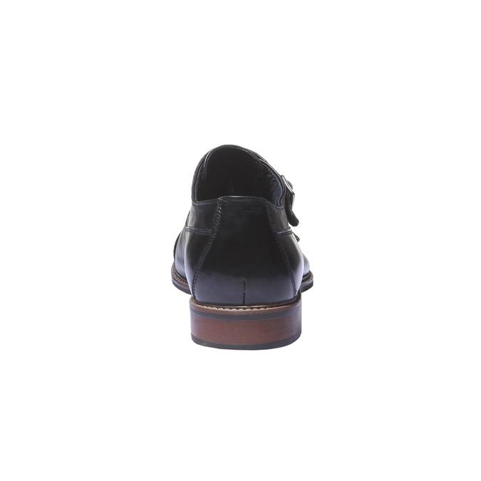 Kožené polobotky v Monk stylu bata, černá, 814-6709 - 17