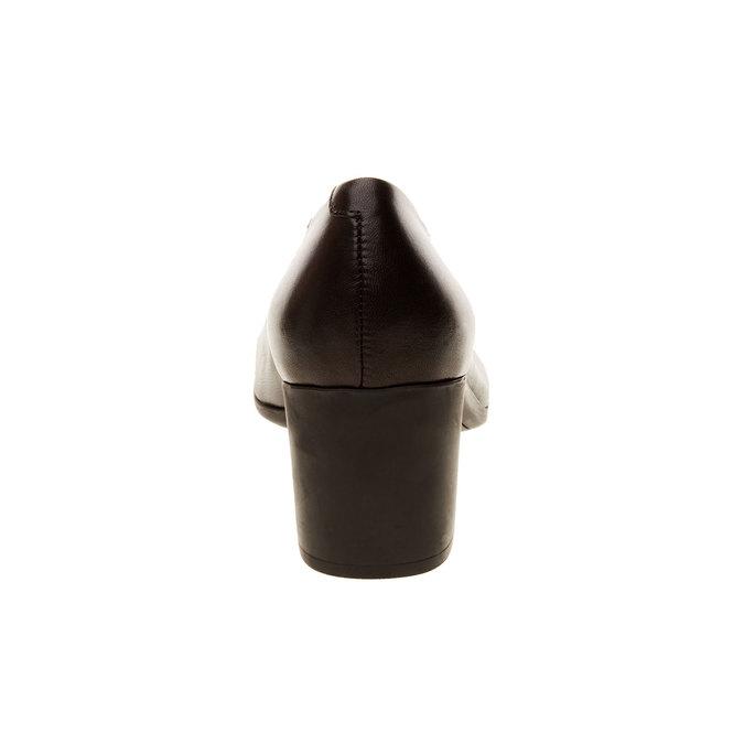Dámské kožené lodičky flexible, černá, 624-6706 - 17