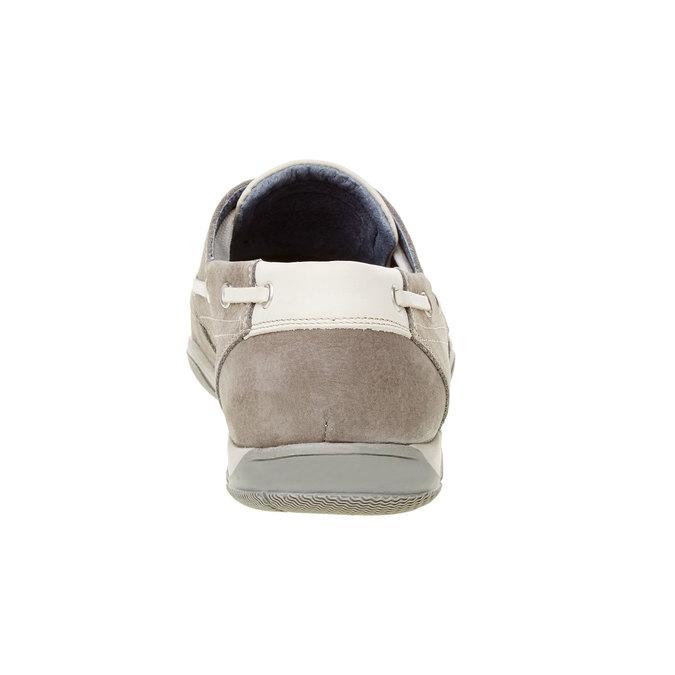 Ležérní kožené mokasíny bata, šedá, 856-2176 - 17
