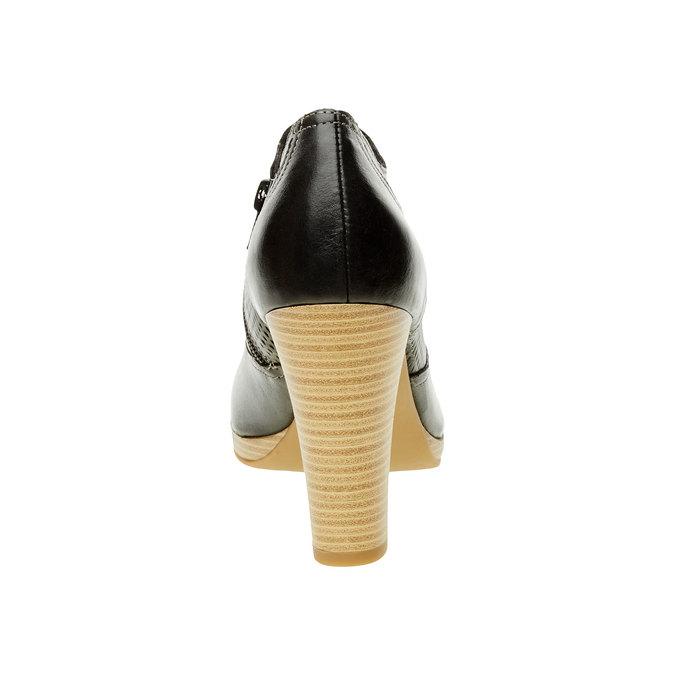 Kožené polobotky na podpatku bata, černá, 724-6932 - 17