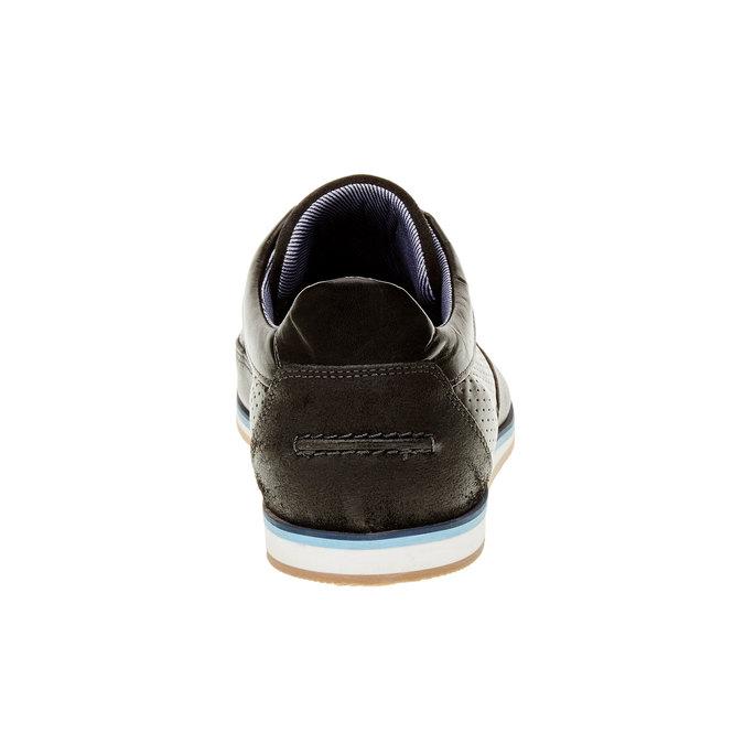 Ležérní kožené polobotky bata, černá, 824-6290 - 17