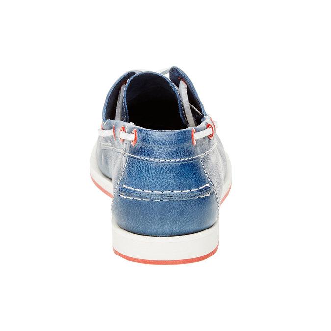 Pánské kožené mokasíny bata, modrá, 854-9188 - 17