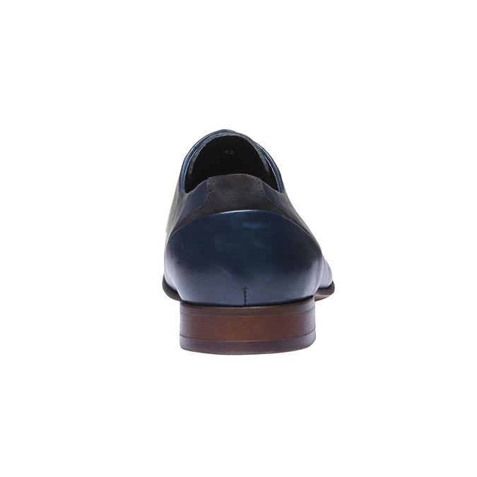 Kožené polobotky v Derby střihu bata, modrá, 824-9538 - 17