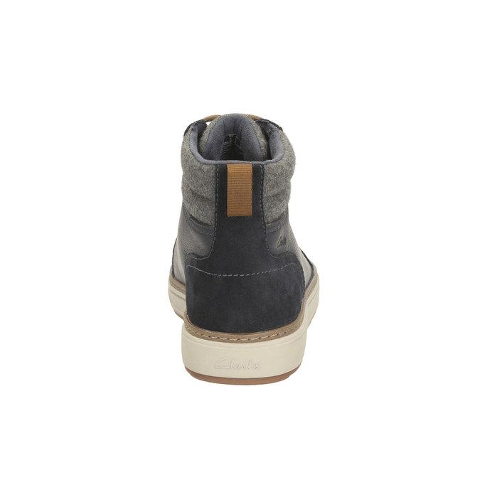Mens Sneakers clarks, šedá, 894-9398 - 17