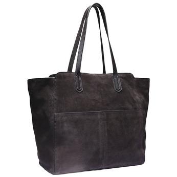 Semišová kabelka v Tote stylu bata, hnědá, 963-4112 - 13