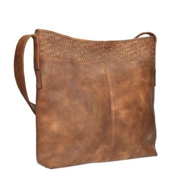 Prostorná kabelka s dlouhým uchem bata, hnědá, 961-3600 - 13