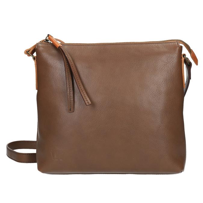 Kožená Crossbody kabelka weinbrenner, hnědá, 964-4193 - 26