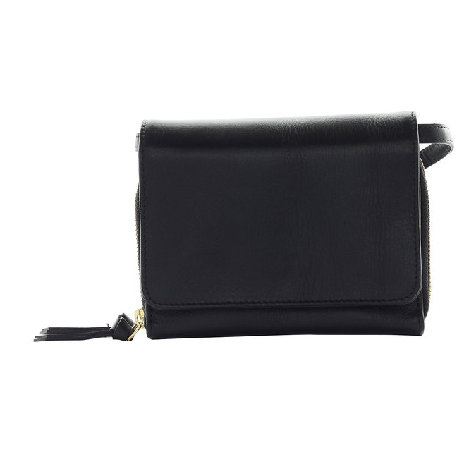 Kožená Crossbody kabelka royal-republiq, černá, 964-6191 - 26