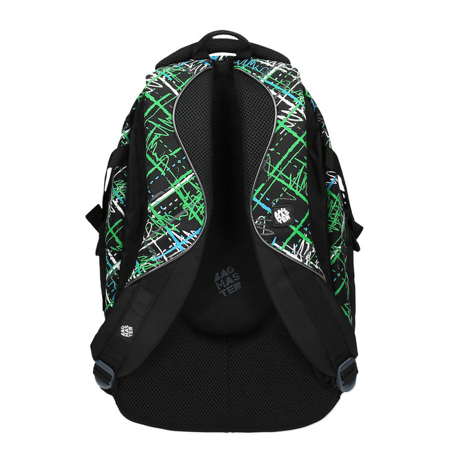 Školní batoh s potiskem bagmaster, zelená, 969-7613 - 26