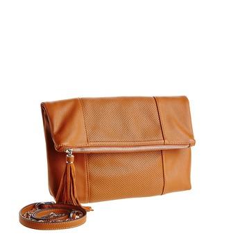 Crossbody kabelka se střapcem bata, hnědá, 961-3777 - 13