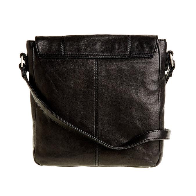 Kožená Crossbody taška s přezkami bata, šedá, 964-2193 - 26