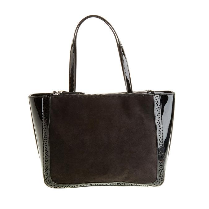 Dámská kabelka s lesklými prvky bata, černá, 969-6315 - 26
