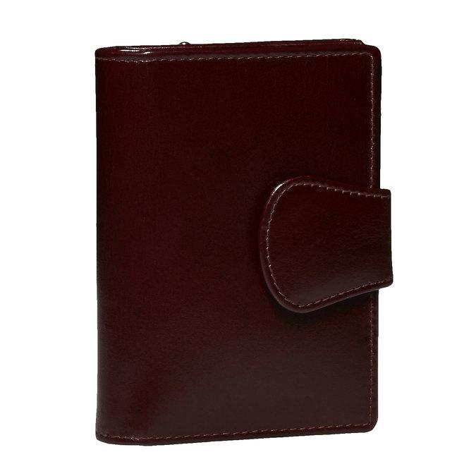 Kožená dámská peněženka bata, červená, 944-5116 - 13