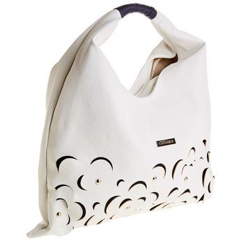 Dámská bílá kabelka typu Hobo cafe-noir, bílá, 961-1010 - 13