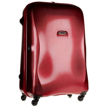 Skořepinový kufr na kolečkách carlton, červená, 960-5103 - 13