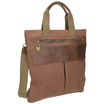Textilní kabelka s popruhem weinbrenner, hnědá, 969-3621 - 13