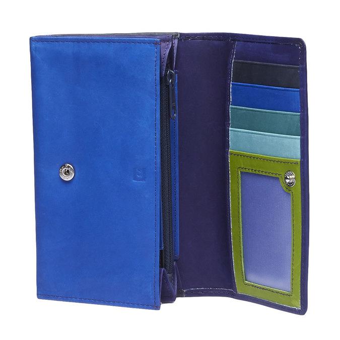 Dámská kožená peněženka bata, modrá, 944-9156 - 15