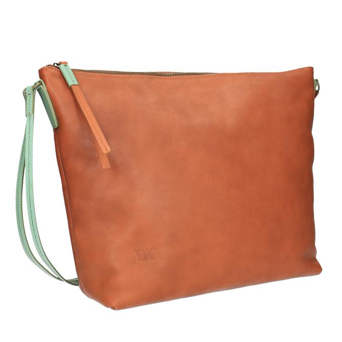 Kožená Crossbody kabelka weinbrenner, hnědá, 964-3201 - 13