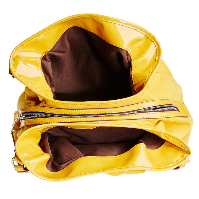 Žlutá dámská kabelka bata, žlutá, 969-8280 - 15