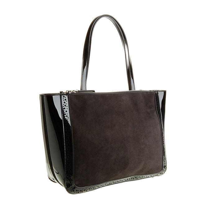 Dámská kabelka s lesklými prvky bata, černá, 969-6315 - 13