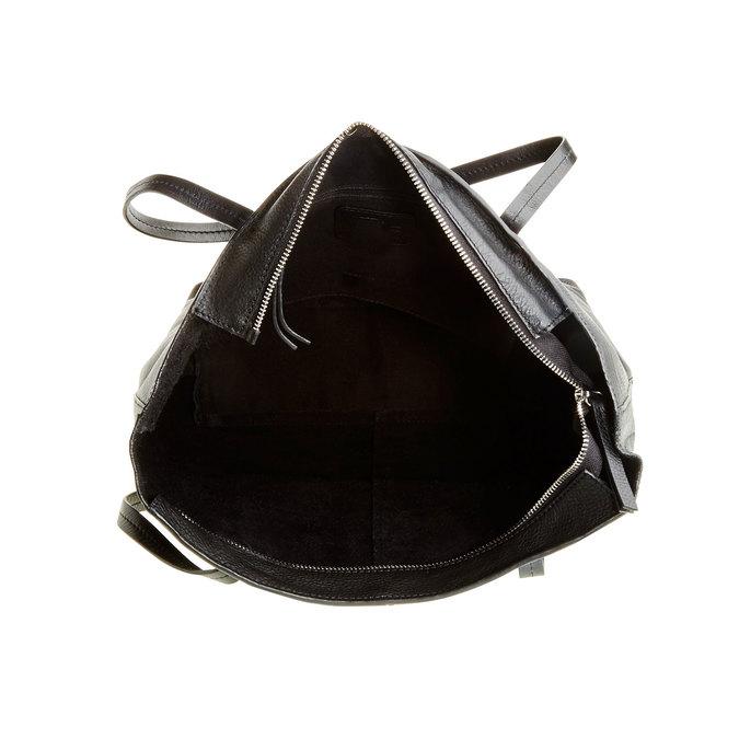 Dámská kožená kabelka bata, černá, 964-6177 - 15