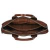 Kožená brašna s odnímatelným popruhem bata, hnědá, 964-4202 - 15