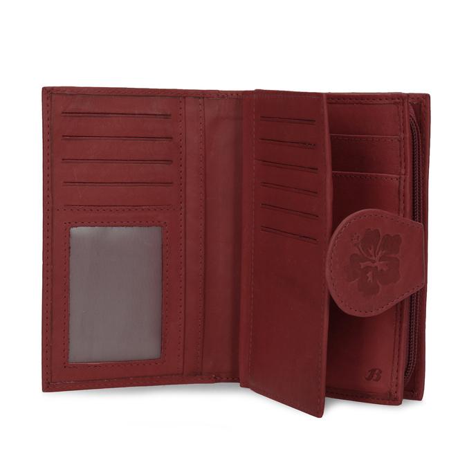 Dámská kožená peněženka bata, červená, 944-5155 - 15