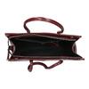 Červená kabelka s pevným dnem bata, červená, 961-5879 - 15