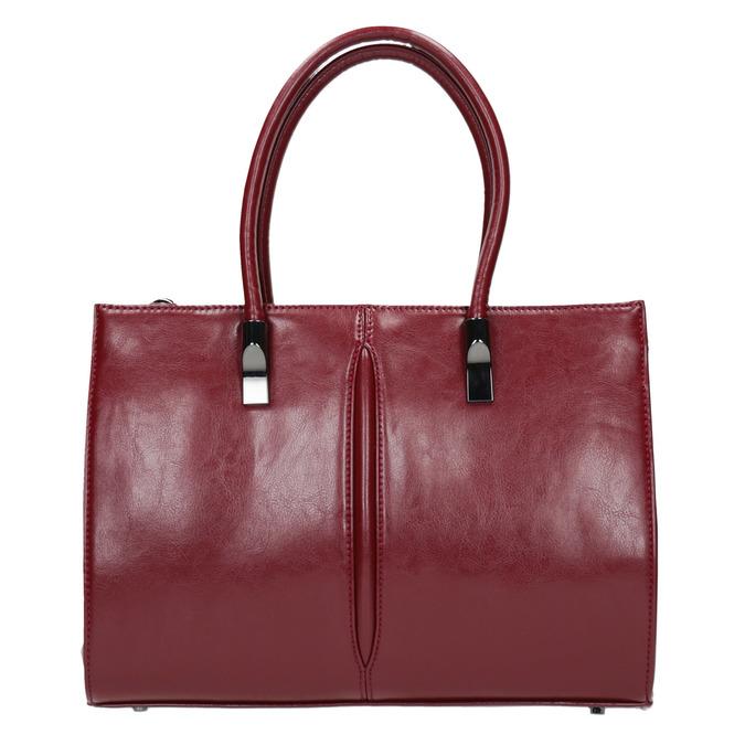 Červená kabelka s pevným dnem bata, červená, 961-5879 - 19