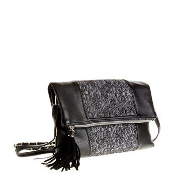 Crossbody kabelka se střapcem bata, černá, 969-6282 - 13