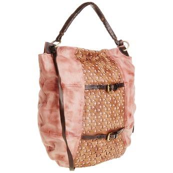 Kožená kabelka s řemínky a-s-98, červená, 966-5002 - 13