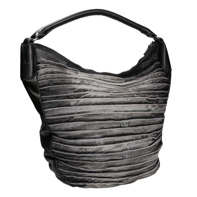 Denimová kabelka v Hobo stylu fredsbruder, černá, 964-6089 - 13