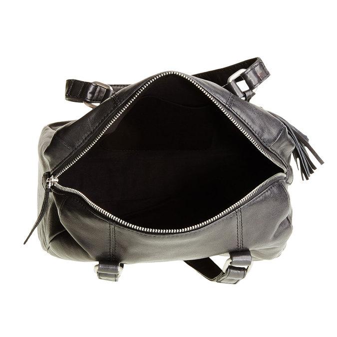 Kožená kabelka se střapcem bata, černá, 964-6190 - 15