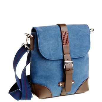 Pánská Crossbody taška s klopou bata, fialová, 969-9284 - 13