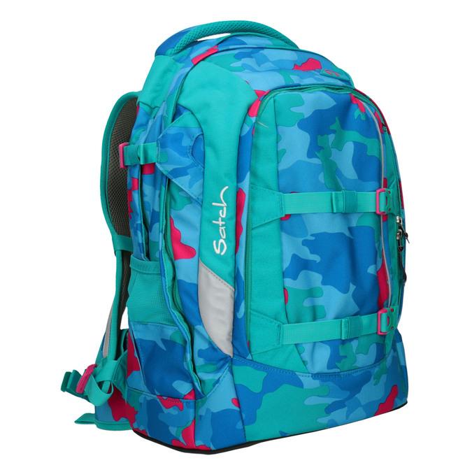 Barevný školní batoh satch, tyrkysová, 969-9087 - 13
