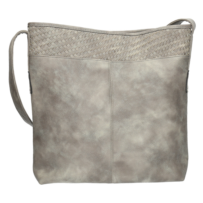 Šedá kabelka s dlouhým uchem bata, šedá, 961-2600 - 19