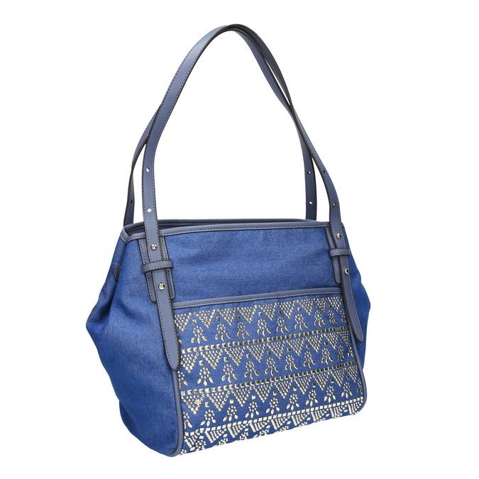 Dámská modrá kabelka bata, modrá, 969-9453 - 13