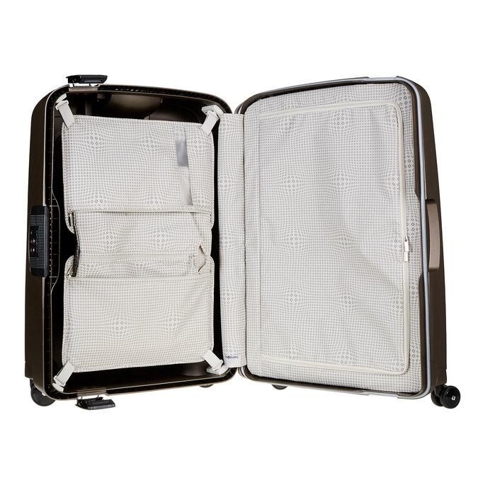 Kvalitní skořepinový kufr samsonite, hnědá, 960-4322 - 15