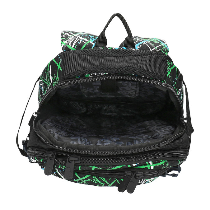 Školní batoh s potiskem bagmaster, zelená, 969-7613 - 15
