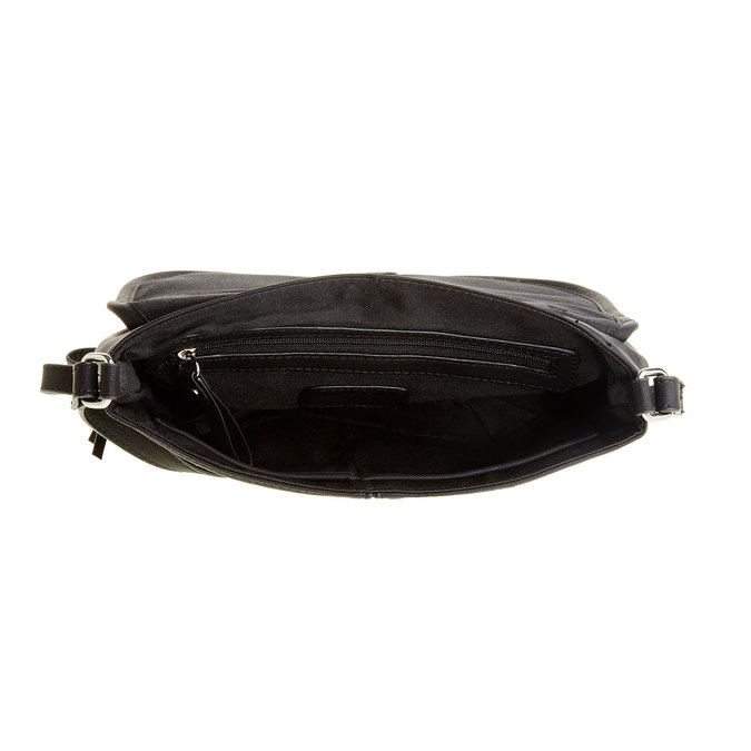 Crossbody kabelka se střapcem bata, černá, 961-6759 - 15