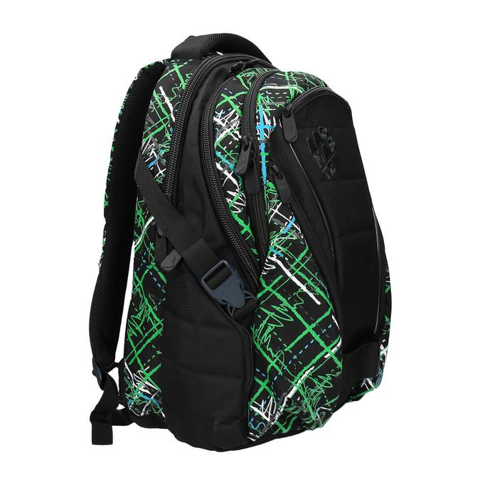 Školní batoh s potiskem bagmaster, zelená, 969-7613 - 13
