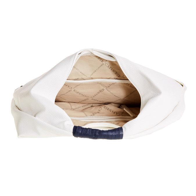 Dámská bílá kabelka typu Hobo cafe-noir, bílá, 961-1010 - 15