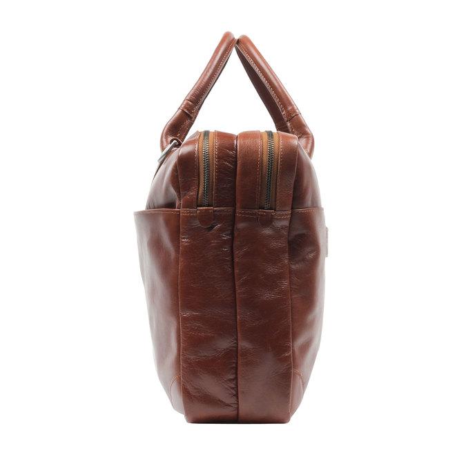 Kožená taška s krátkými uchy royal-republiq, hnědá, 964-4053 - 17