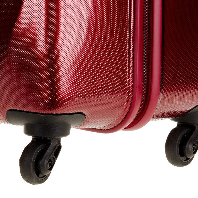 Skořepinový kufr na kolečkách carlton, červená, 960-5103 - 19