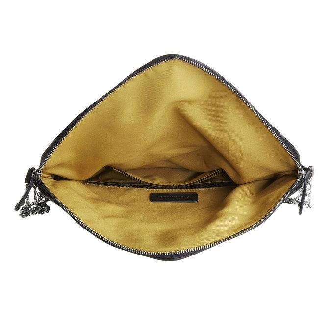 Menší kožená kabelka s klopou fredsbruder, černá, 964-6092 - 15