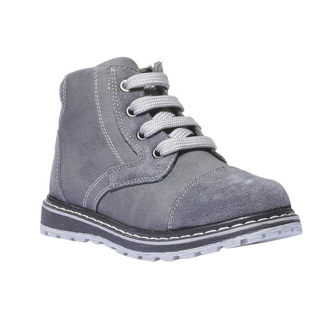 Kožené kotníčkové boty mini-b, šedá, 211-2138 - 13