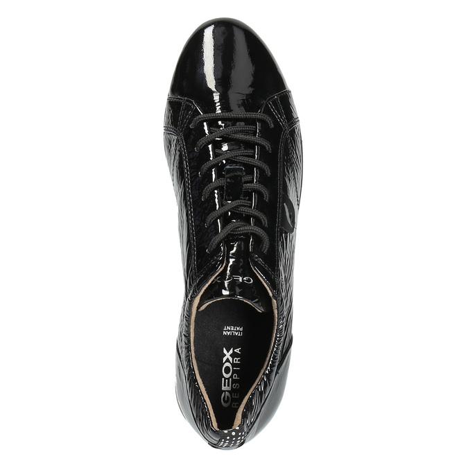 Dámské tenisky z lakované kůže geox, černá, 528-6030 - 19