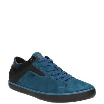 Kožené tenisky s prodyšnou podešví geox, modrá, 823-9032 - 13